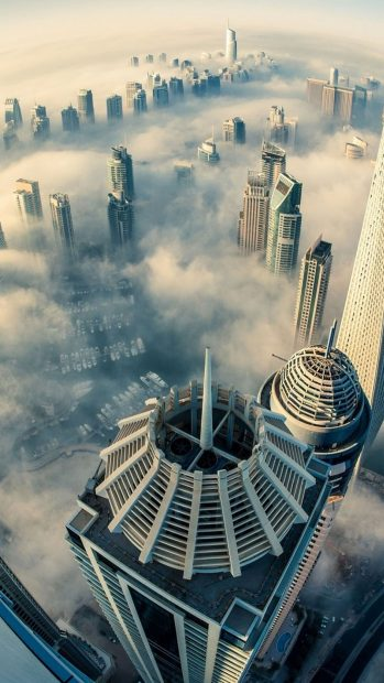 Cool Dubai Tallest Building Sky View Background for Iphone.