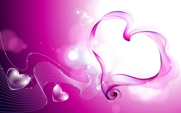 Facebook beautiful pink love cover wallpaper.