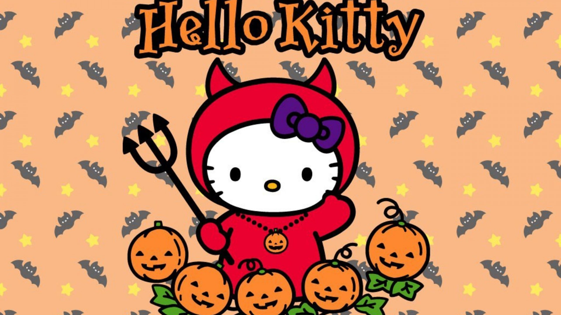 Download Free Hello Kitty Halloween Wallpapers | PixelsTalk.Net