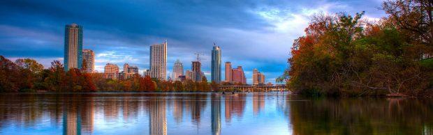 Panoramic City Background.