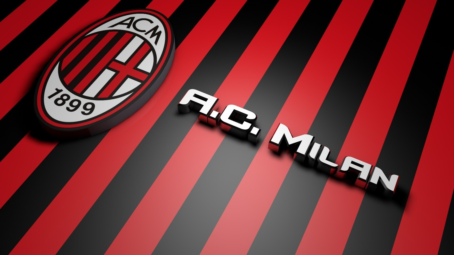 3D Logo Of AC Milan Wallpaper