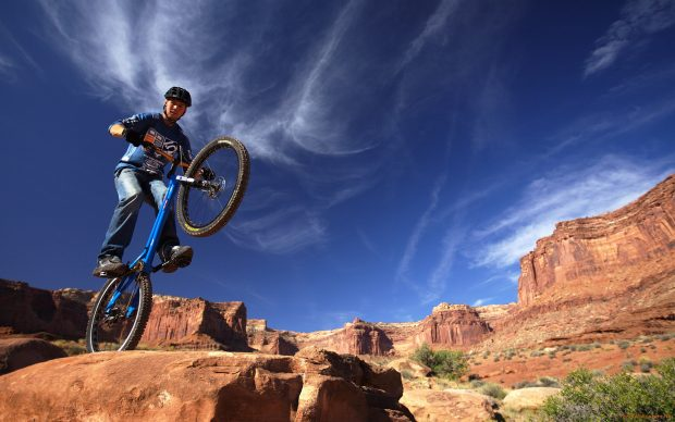 Mountain Biking Adventure Wallpaper.