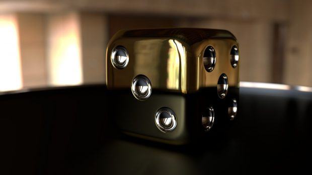 3D shiny dice hd wallpapers.
