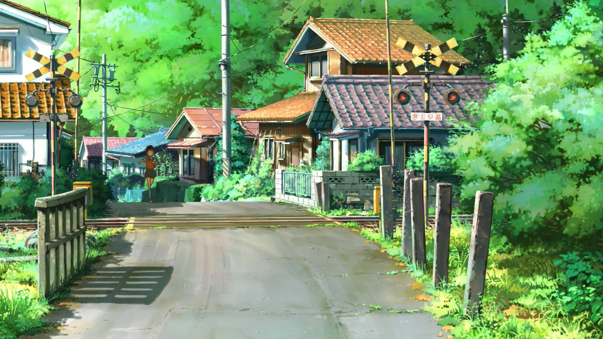 Anime landscape wallpaper hd pixelstalk net - Art village wallpaper ...