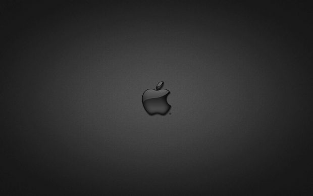 Apple logo made black glass.