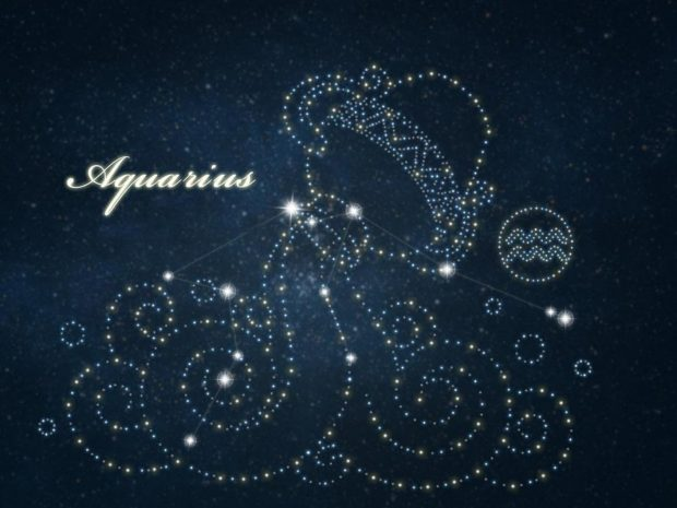Aquarius Horoscope Background.