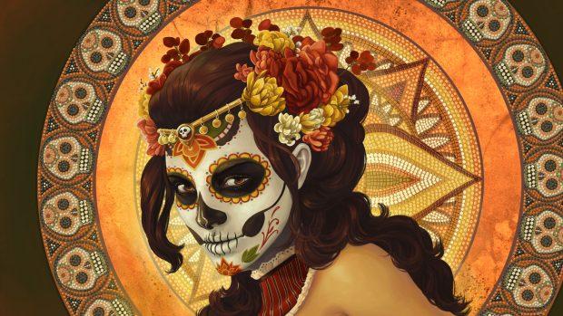 Aztec Warrior HD Background.