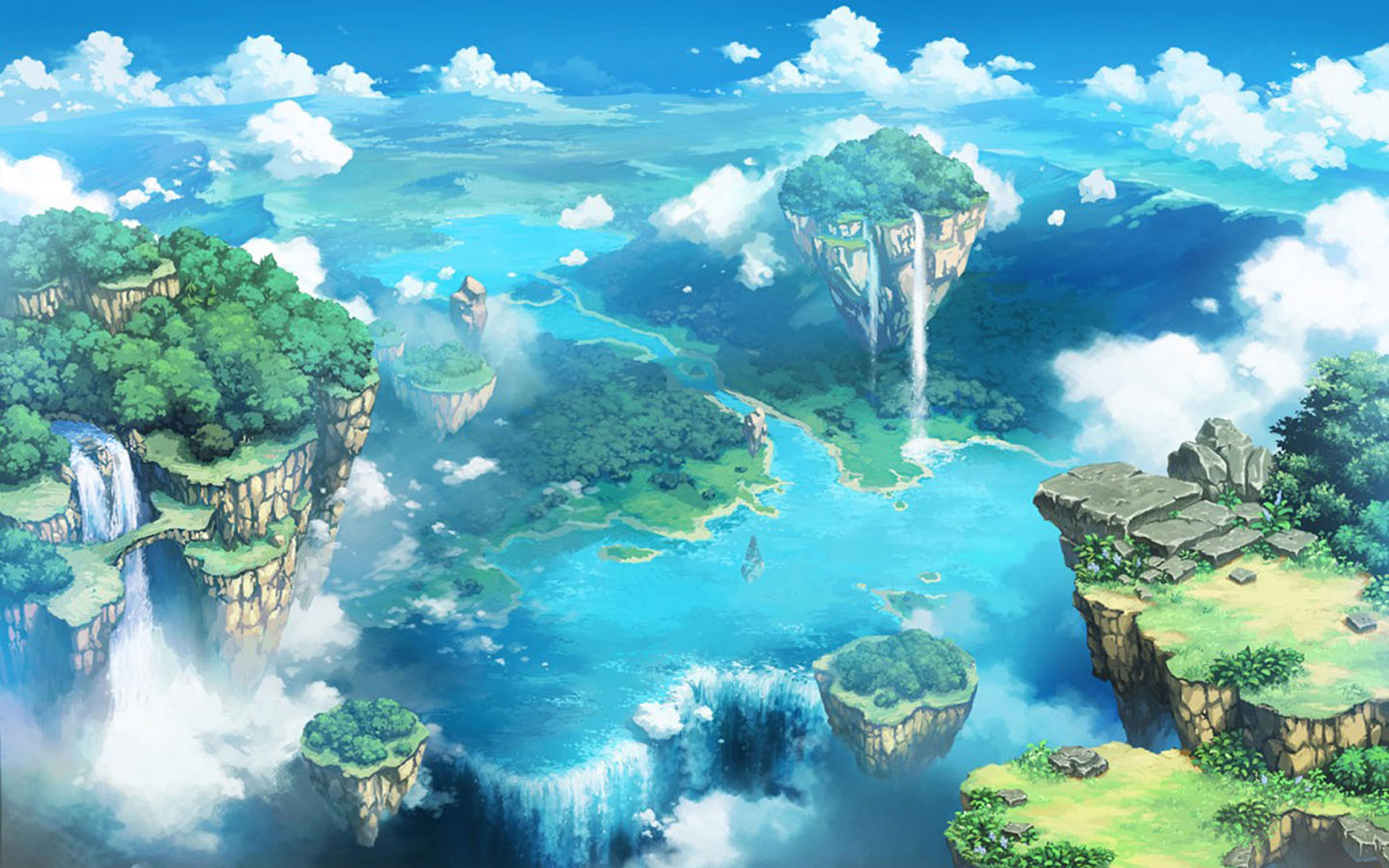 Anime Landscape Wallpaper Hd Pixelstalk Net