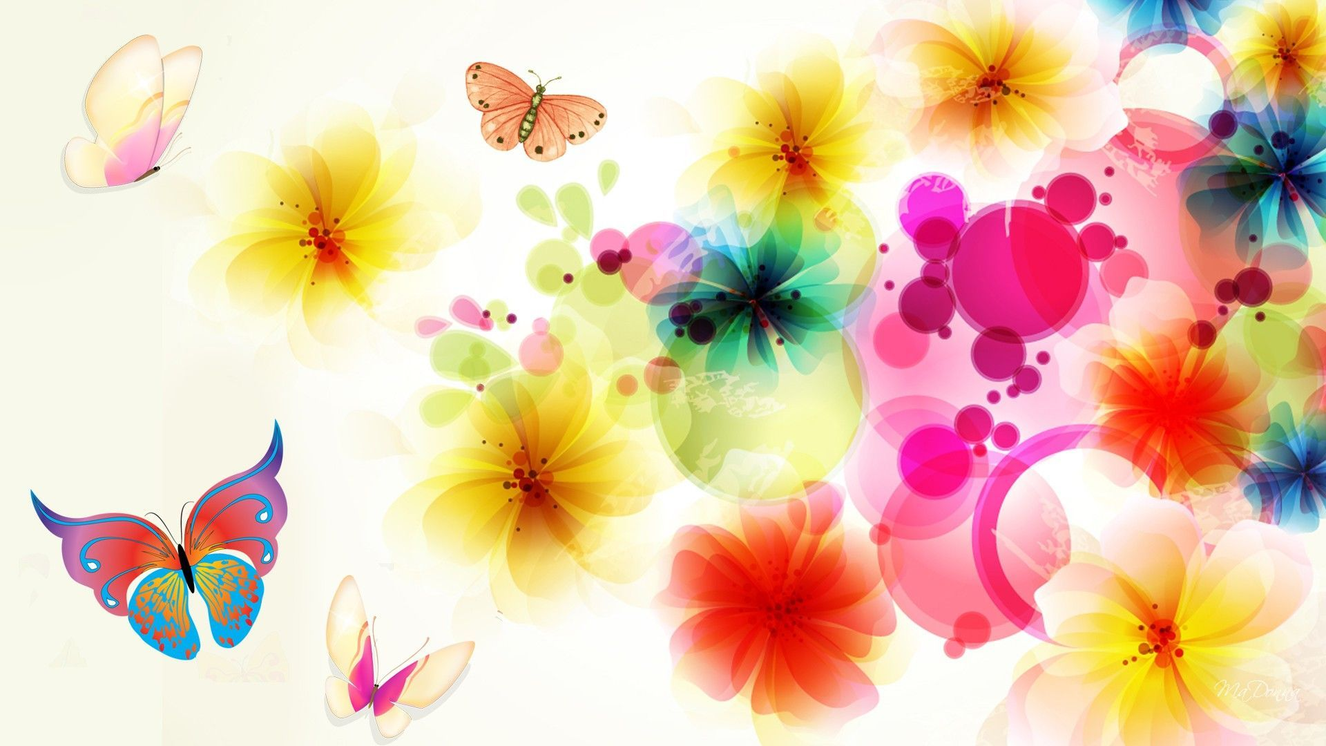 Bright Floral Background Free Download Pixelstalk Net