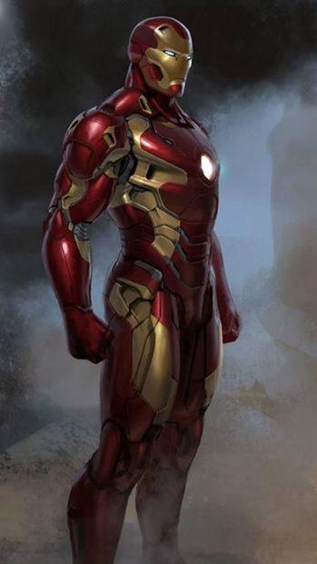 Cool iron Man 8 bit iphone wallpaper.
