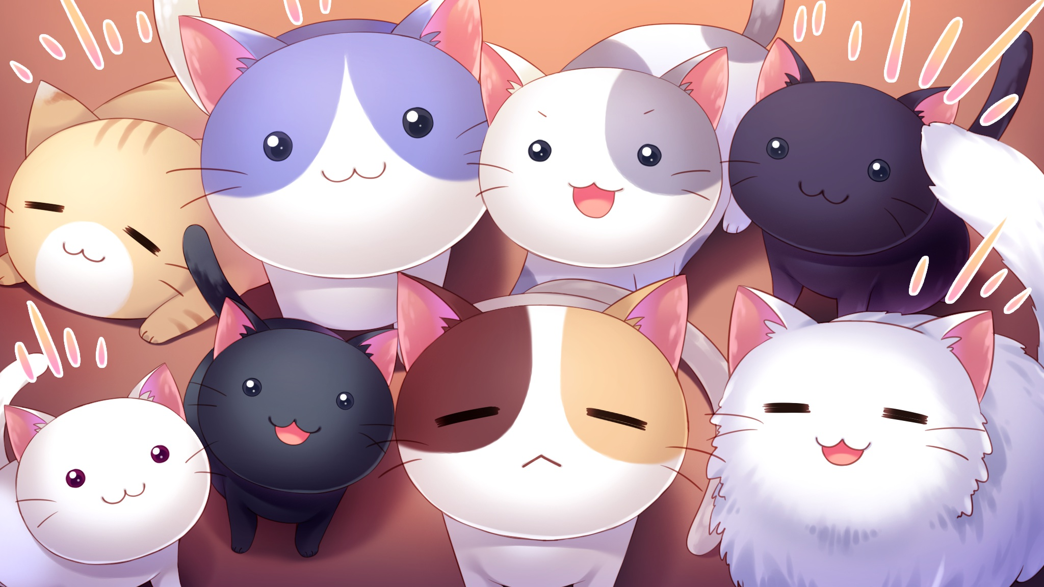 Hd anime cat background pixelstalk net - Anime cat wallpaper ...