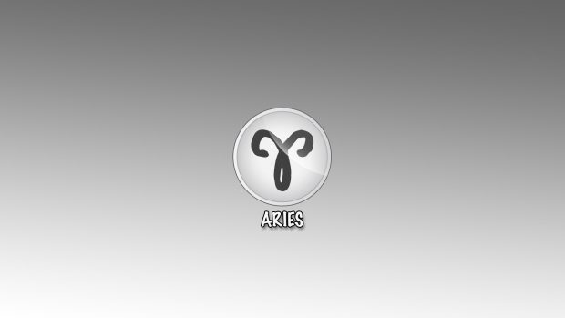 Download Free Aries Sign Logo Wallpaper.