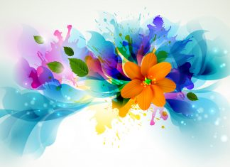 Flowers Bright Color Wallpaper.