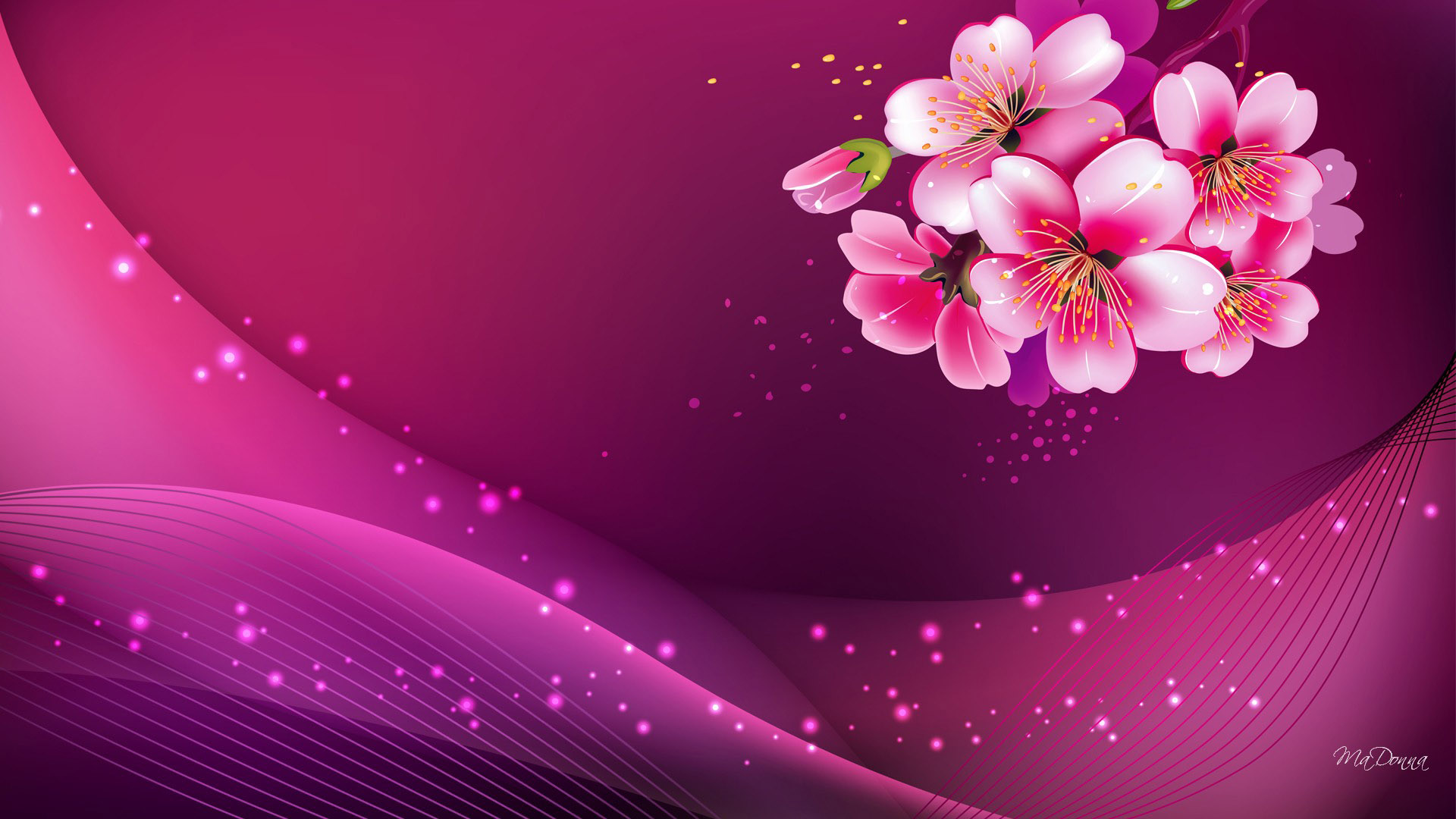Apple Blossom Pink HD Desktop Background
