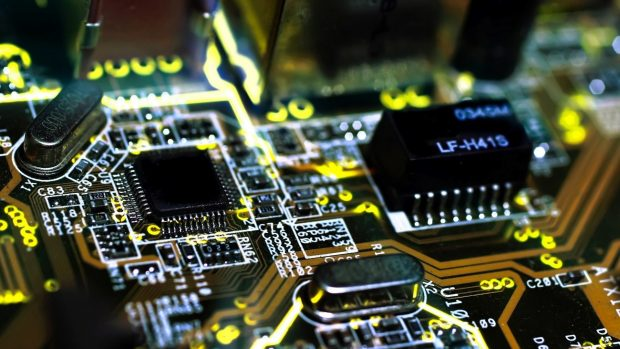 Chips electronic circuit boards 1920x1080 wallpaper.