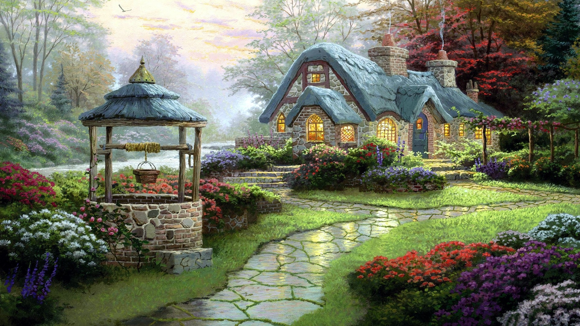 Cottage Wallpaper Full HD