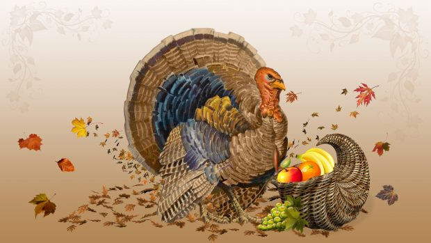 Cute Thanksgiving Background Full HD.