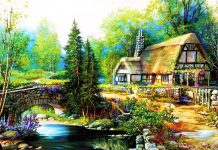 Download Free Cottage Background.