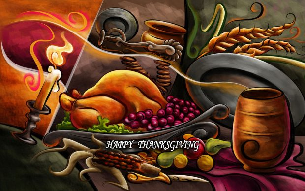 Download Free Cute Thanksgiving Background.