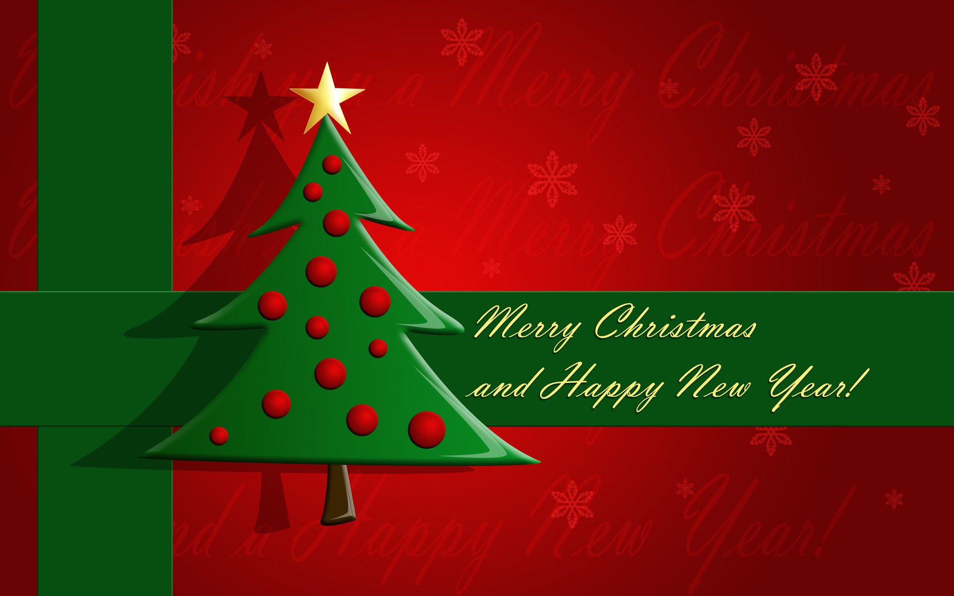 Merry Christmas And Happy New Year Wallpaper