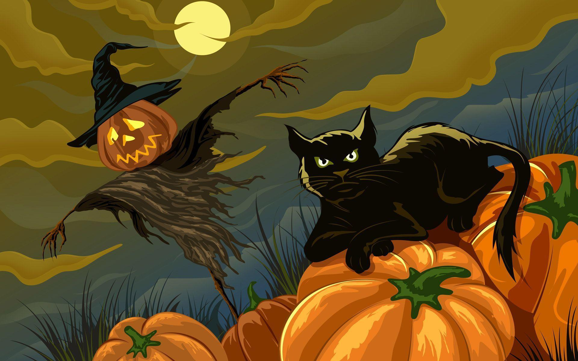 Halloween Cat Wallpaper 4 Original Size.