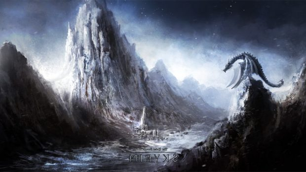 Pictures Screen Dragon Skyrim Wallpapers.