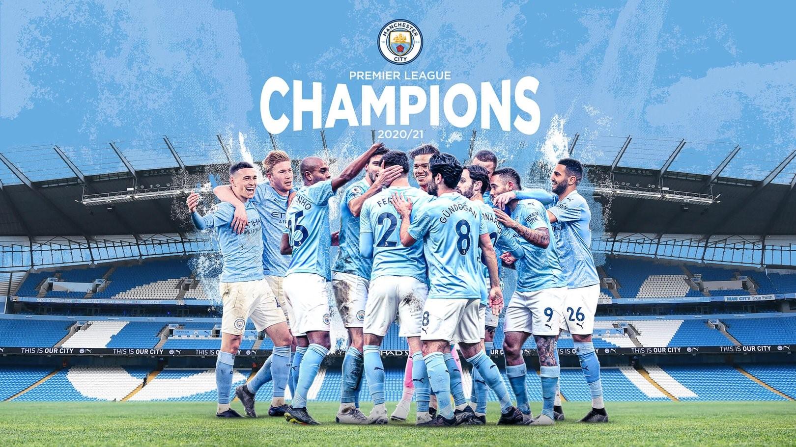45 Manchester City Premier League Champions 2021 Wallpapers Pixelstalk Net