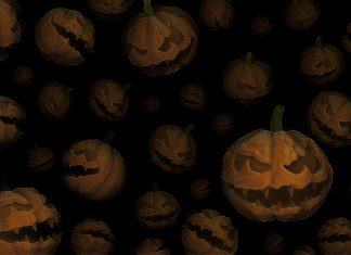 Scary Halloween Background 1.