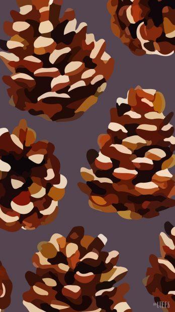 Acorn iPhone Fall background.