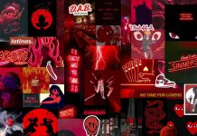 Awesome Red and Black Aesthetic Background.