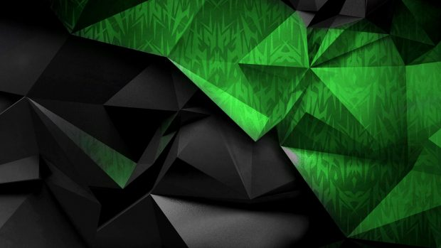 Cool Green and Black 4K Wallpaper.
