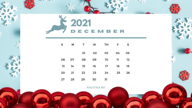 December 2021 Calendar Christmas Wallpaper.