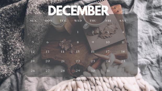 December 2021 Calendar Winter Wallpaper.