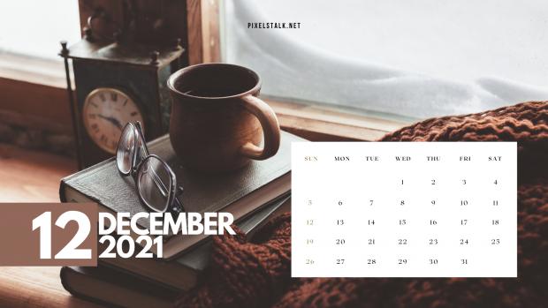 December Calendar 2021 Desktop Wallpaper.