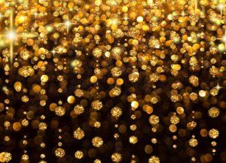 Gold and Black Desktop Wallpaper.
