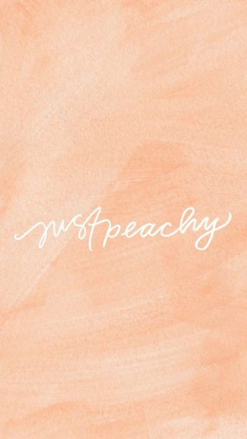 Peach Aesthetic Wallpaper for Android.